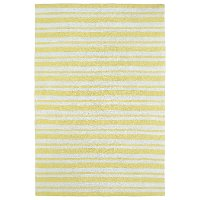 5 x 7 Medium Striped Yellow and Ivory Area Rug - Lily & Liam