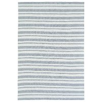 4 x 6 Small Striped Gray and Ivory Area Rug - Lily & Liam