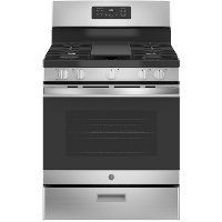 JGBS66REKSS GE 30 Inch Gas Range with Griddle - 5 cu. ft., Stainless Steel