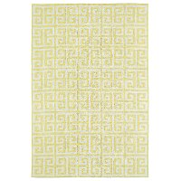LAL03-28-46 4 x 6 Small Geometric Yellow and Ivory Area Rug - Lily & Liam