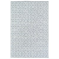 5 x 7 Medium Geometric Gray and Ivory Area Rug - Lily & Liam