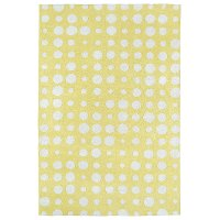 4 x 6 Small Dotted Yellow and Ivory Area Rug - Lily & Liam