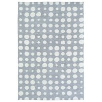 4 x 6 Small Dotted Gray and Ivory Area Rug - Lily & Liam