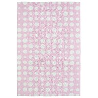 4 x 6 Small Dotted Pink and Ivory Area Rug - Lily & Liam