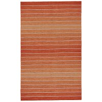 8 x 10 Large Orange Cream Area Rug - Santino