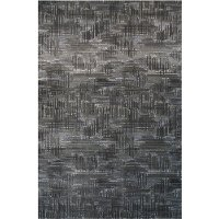 AQUARELLE/101-990508 5 x 8 Medium Black, White & Blue Rug - Aquarelle
