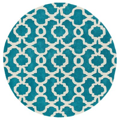 ' round teal  ivory area rug  revolution  rc willey furniture, 6' round teal rug, large round teal rug, round rug teal multi