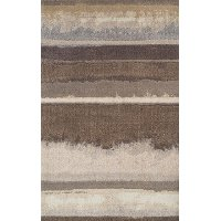 8 x 11 Large Mocha Brown Area Rug - Antigua