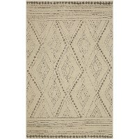 8 x 10 Large Vado Cream, Light Gray, and Tan Area Rug - Nomad