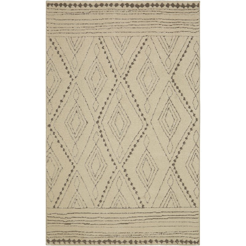 8 X 10 Large Vado Cream Light Gray And Tan Area Rug Nomad