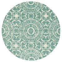 10' Round Mint Green and Ivory Area Rug - Evolution
