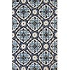 8 x 10 Large Mosaic Medallion Navy Blue Outdoor Rug - Atrium