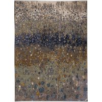 8 x 11 Large Torrent Desert Brown and Blue Rug - Enigma