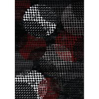 5 x 8 Medium Contemporary Red & Black Area Rug - Platinum
