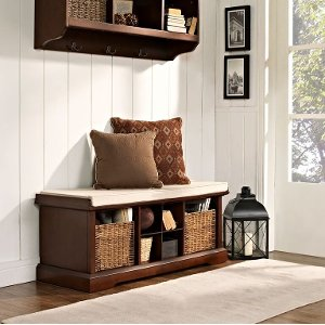 bench for living room.  CF6003 MA Mahogany Entryway Storage Bench Brennan Free Shipping Shop storage benches and dining RC Willey Furniture Store