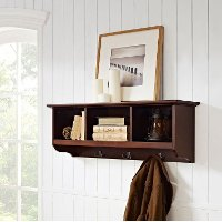 CF6004-MA Mahogany Entryway Storage Shelf - Brennan