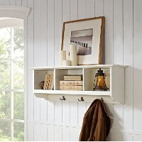 CF6004-WH White Entryway Storage Shelf - Brennan