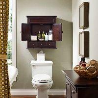 Espresso Bathroom Wall Cabinet Lydia