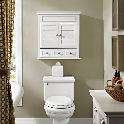 Great CF7004 WH Lydia White Bathroom Wall Cabinet