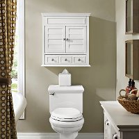 CF7004-WH White Bathroom Wall Cabinet - Lydia