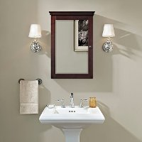 CF7005-ES Espresso Mirrored Wall Bathroom Cabinet - Lydia