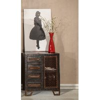 5806-896B Rubbed Black Wood Accent Table - Bridgewater