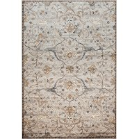5 x 8 Medium Traditional Ivory and Blue Rug - Sonoma