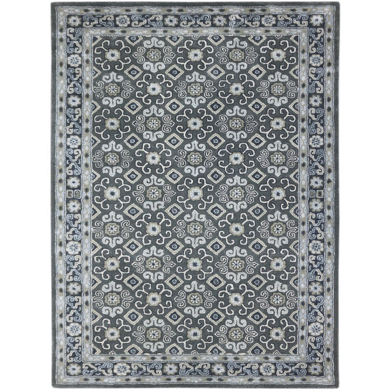 8 X 11 Large Dark Gray Transitional Area Rug Castille Rc Willey Furniture