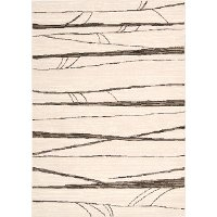 8 x 11 Large Ivory, Brown, and Black Area Rug - Glistening Nights