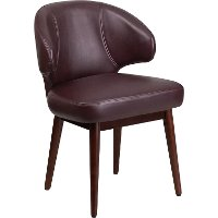 Burgandy Leather Reception Lounge Office Chair