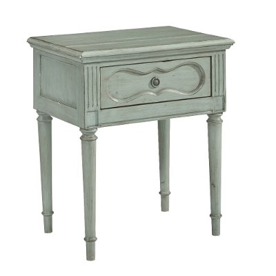 Magnolia Home Furniture French Blue Night Table - Cameo