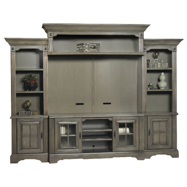 Amazing Contemporary Gray 5 Piece Modern Entertainment Center   Newport