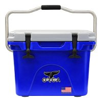 20 Quart ORCA Team Blue and White Cooler