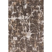 MASONIC/MAC04..7 8 x 10 Large Chocolate Brown & Gray Area Rug - Masonic
