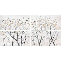 Set of 8 Surculus Tree Canvas Wall Art