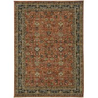 8 X 11 Large Keralam Spice Red Area Rug Spice Market
