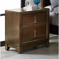 Brown Contemporary Nightstand - Amanoi