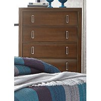 Brown Contemporary Chest of Drawers - Amanoi