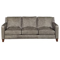 Modern Driftwood Gray Leather Sofa Abilene Rc Willey Furniture Store