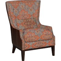 Serapi Patriot Blue & Red Accent Chair - Silas