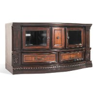 62 Inch Cinnamon Brown TV Stand - Grand Estates