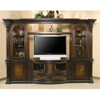 Brown 6 Piece Traditional Entertainment Center - Grand Estates