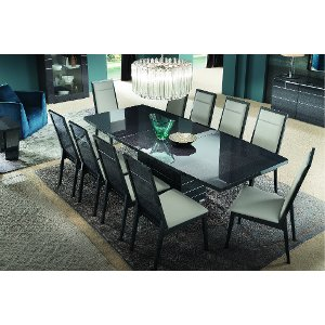 7PCKJVR DINING Gray 7 Piece Modern Dining Set