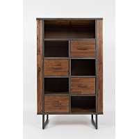 Hickory Brown 4 Drawer Bookcase - Studio 16
