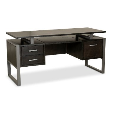 home office table writing desk charcoal modern mar vista