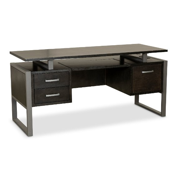 ... 64 Inch Charcoal Modern Office Desk   Mar Vista