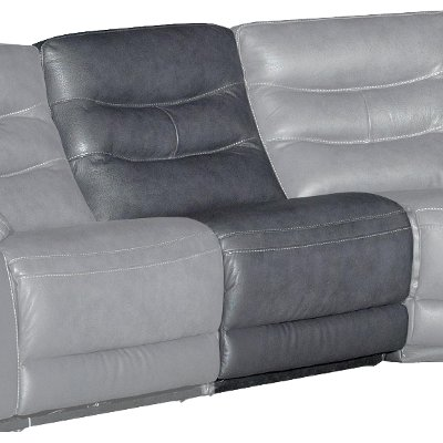 Charcoal Gray Armless Power Recliner - Shawn