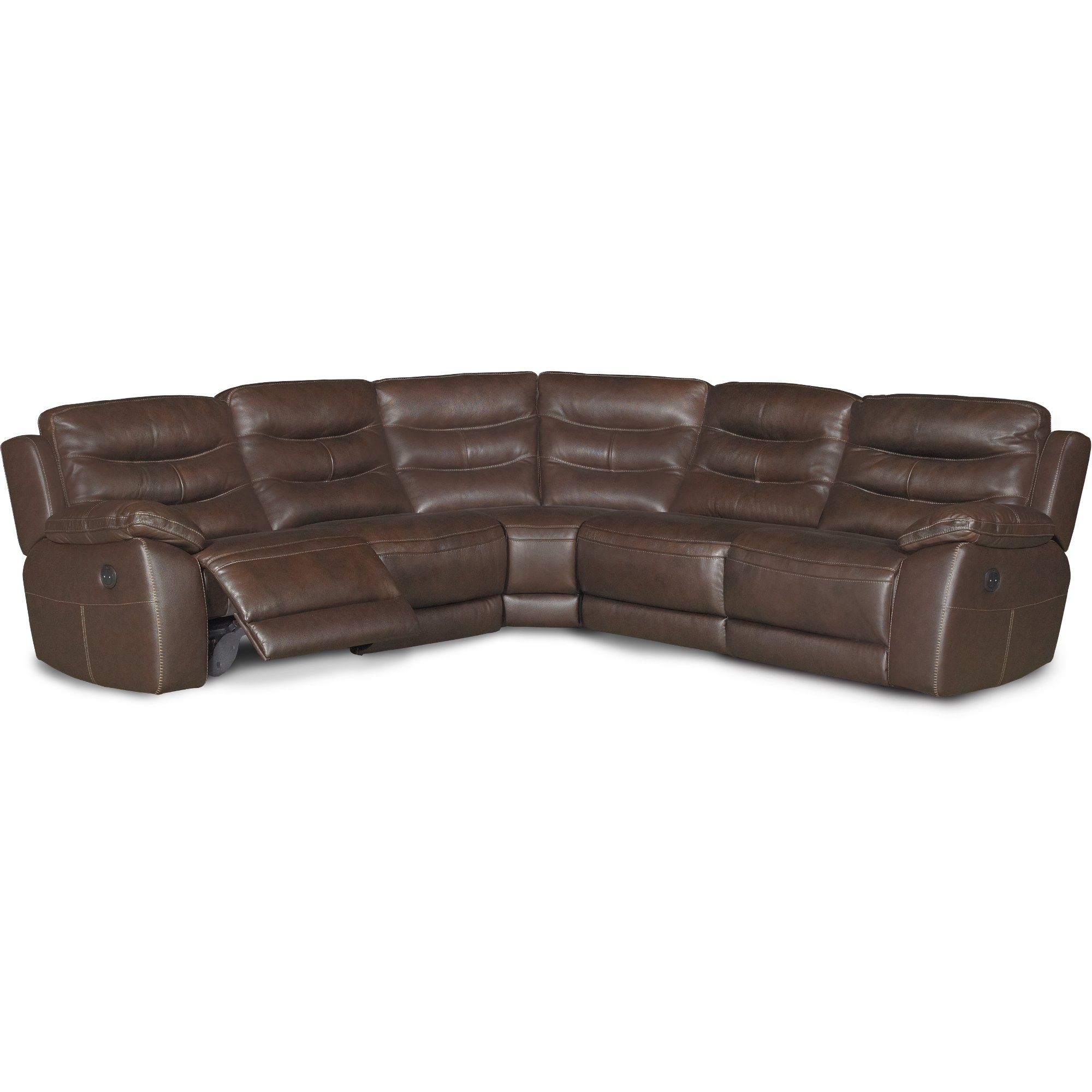... Brown Leather-Match 5-Piece Power Reclining Sectional - Shawn ...  sc 1 st  RC Willey & Reclining sectional u0026 leather reclining sectional | RC Willey ... islam-shia.org