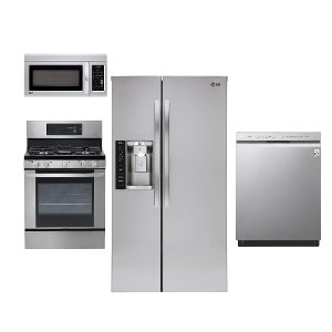 Gas Kit Lg Stainless Steel 4 Piece Kitchen Appliance Package