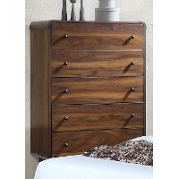 Mid-Century Modern Brown Chest of Drawers - Yasmin